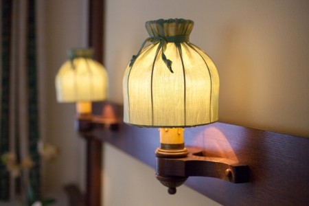 Gästezimmer Lampe Grün